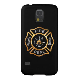 Fire Department  Gold Badge Case For Galaxy S5
