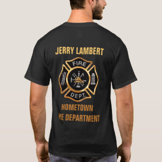 Fire Department Gold Badge Custom T-Shirt