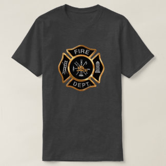 Fire Department Gold  Badge T Shirts