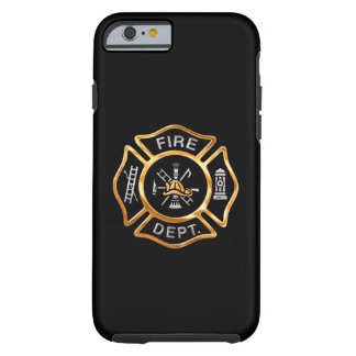 Fire Department Gold Badge Tough iPhone 6 Case