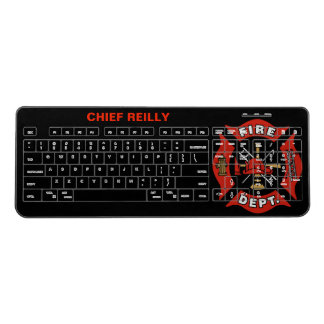 Fire Department Insignia Personalized Wireless Keyboard