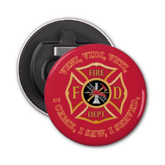 Fire Department Maltese Cross VVV Bottle Opener
