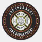 Fire Department Round Badge Classic Round Sticker