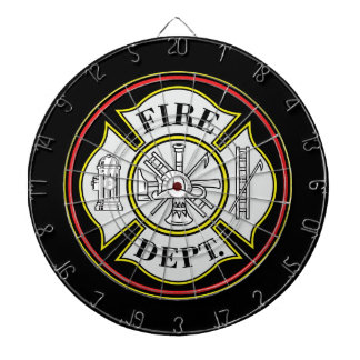 Fire Department Round Badge Dart Boards