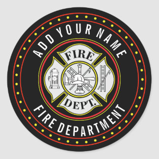 Fire Department Round Badge Round Sticker