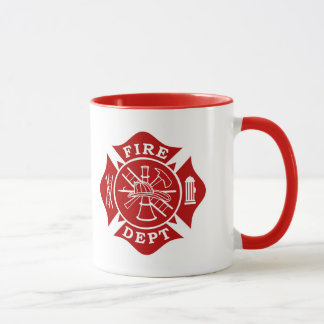 Fire Dept / Firefighter Maltese Cross Mug