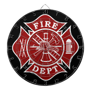 Fire Dept / Firefighter Metal Cage Dartboard