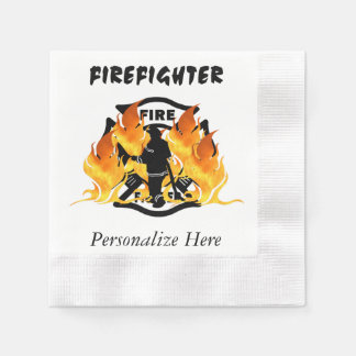 Fire Dept Flames Disposable Napkins