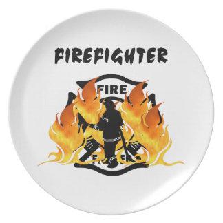 Fire Dept Flames Plate