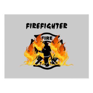 Fire Dept Flames Postcard