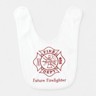 Fire Dept Future Firefighter Baby Bib