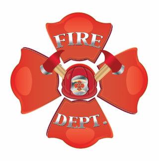 Fire Dept Logo Standing Photo Sculpture