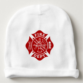 Fire Dept Maltese Cross Baby Cotton Beanie Baby Beanie