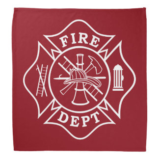 Fire Dept Maltese Cross Bandana