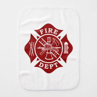 Fire Dept Maltese Cross Burp Cloth
