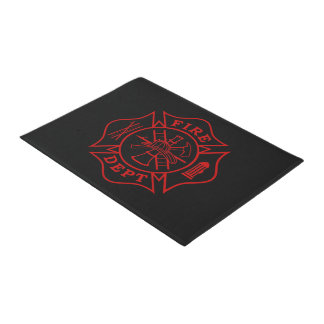 "Fire Dept Maltese Cross Doormat - 18""x24"""