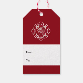 Fire Dept Maltese Cross Gift Tag Pack Of Gift Tags