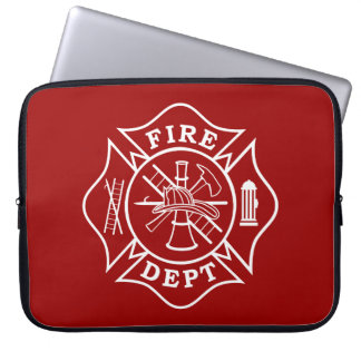 Fire Dept Maltese Cross Laptop Bag Computer Sleeves