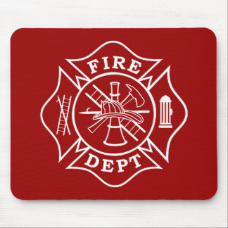 Fire Dept Maltese Cross Mousepad