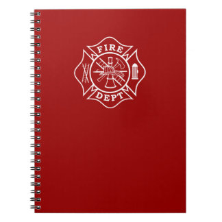 Fire Dept Maltese Cross Note Pad Notebooks