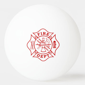 Fire Dept Maltese Cross Ping Pong Ball (1 Star)