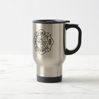 Fire Dept Maltese Cross Stainless Steel Mug