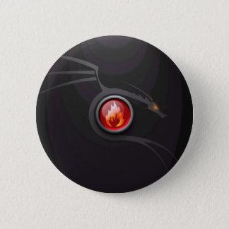 Fire Dragon 2 Inch Round Button