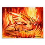 Fire dragon and egg photo art
