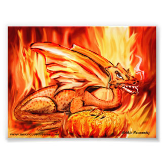 Fire dragon and egg photo print