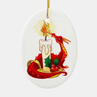 Fire Dragon Christmas Ornament