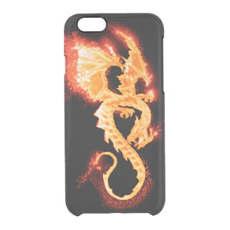 fire dragon clear iPhone 6/6S case