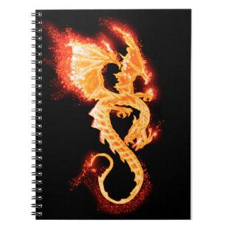 fire dragon notebook