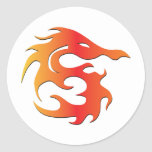 Fire Dragon Round Sticker
