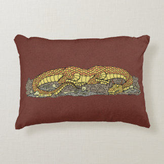 Fire Drake at Rest Accent Pillow