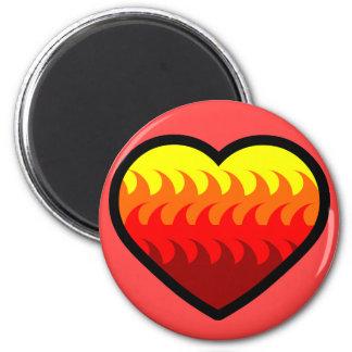 Fire Element Heart Magnets