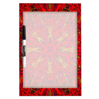 FIRE Element Kaleido Pattern Dry Erase Whiteboards