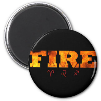 Fire Element with Zodiac Signs Magnets