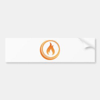 Fire Elements Bumper Sticker