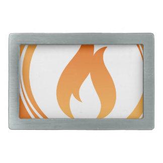 Fire Elements Rectangular Belt Buckle