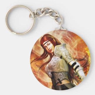 Fire Elf Basic Round Button Keychain