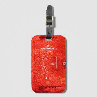 Fire emergency luggage tag