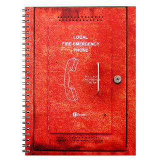 Fire emergency notebooks