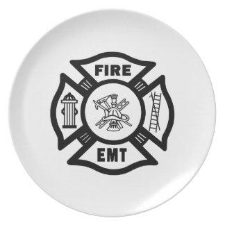 Fire EMT Dinner Plates