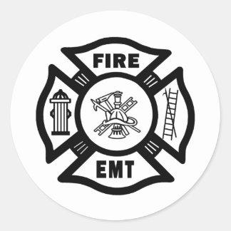 Fire EMT Round Sticker