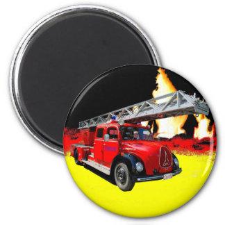 Fire engine 2 inch round magnet