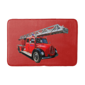Fire engine bath mat