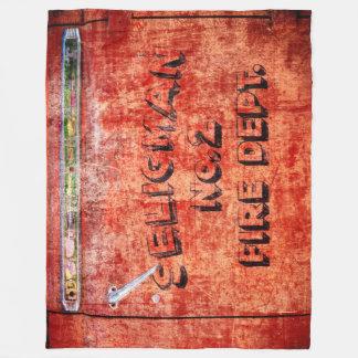 Fire Engine Door Fleece Blanket