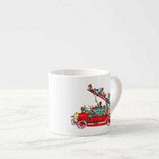 Fire engine espresso mug