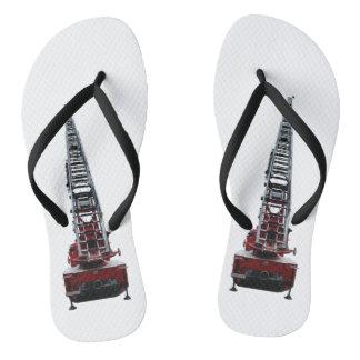 Fire engine flip flops