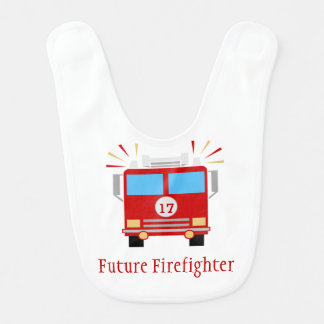 Fire Engine | Future Firefighter | Personalized Bib